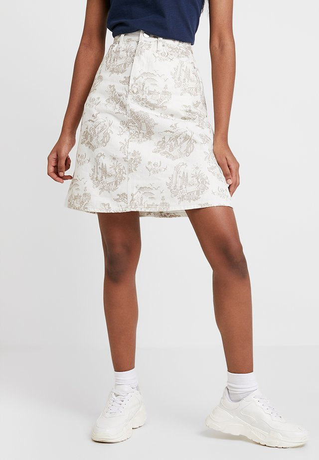 YNES  - A-line skirt - off white
