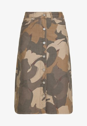 GRIT SKIRT - A-line skirt - brush camo