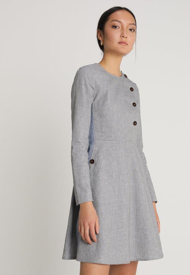 YOLANDA DRESS - Shirt dress - grey