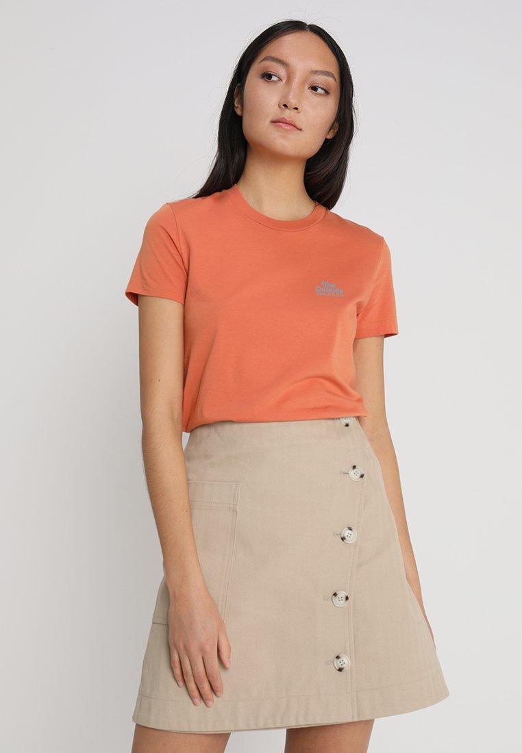 Wood Wood - EDEN  - T-shirt con stampa - dustorange