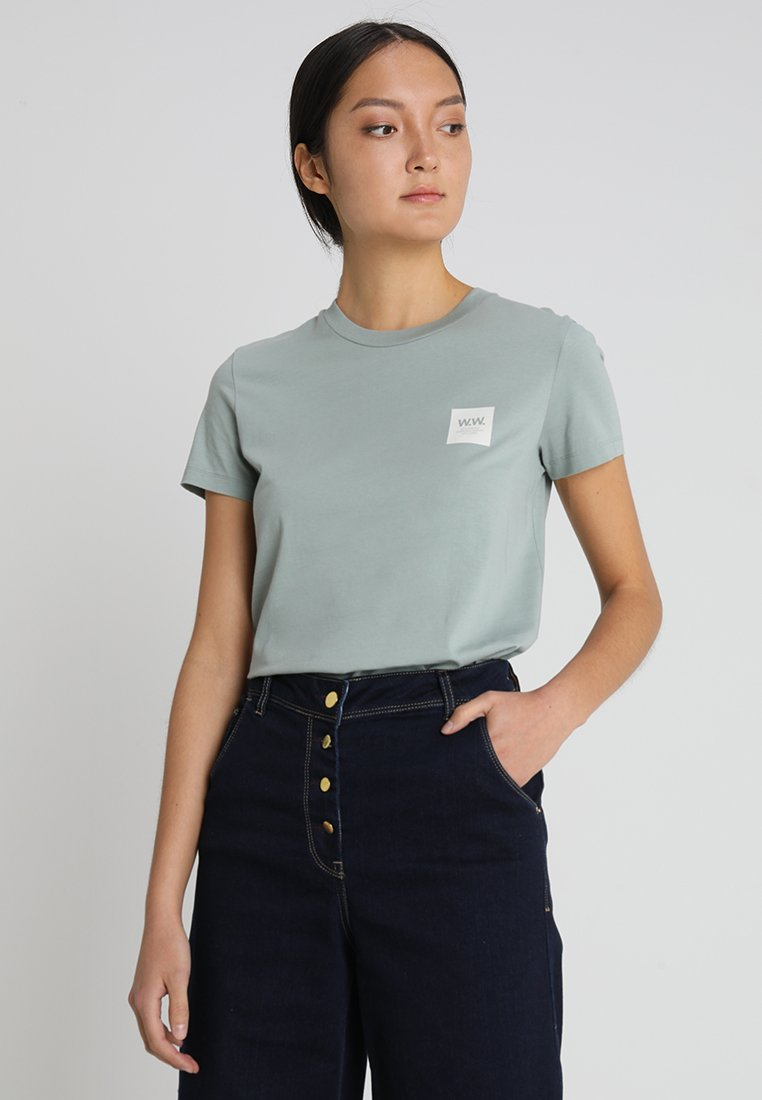 Wood Wood - EDEN  - T-shirt con stampa - mint
