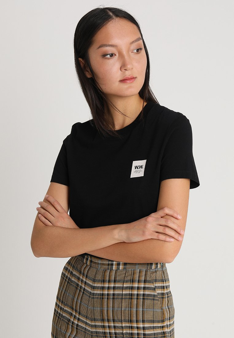 Wood Wood - EDEN  - T-Shirt print - black