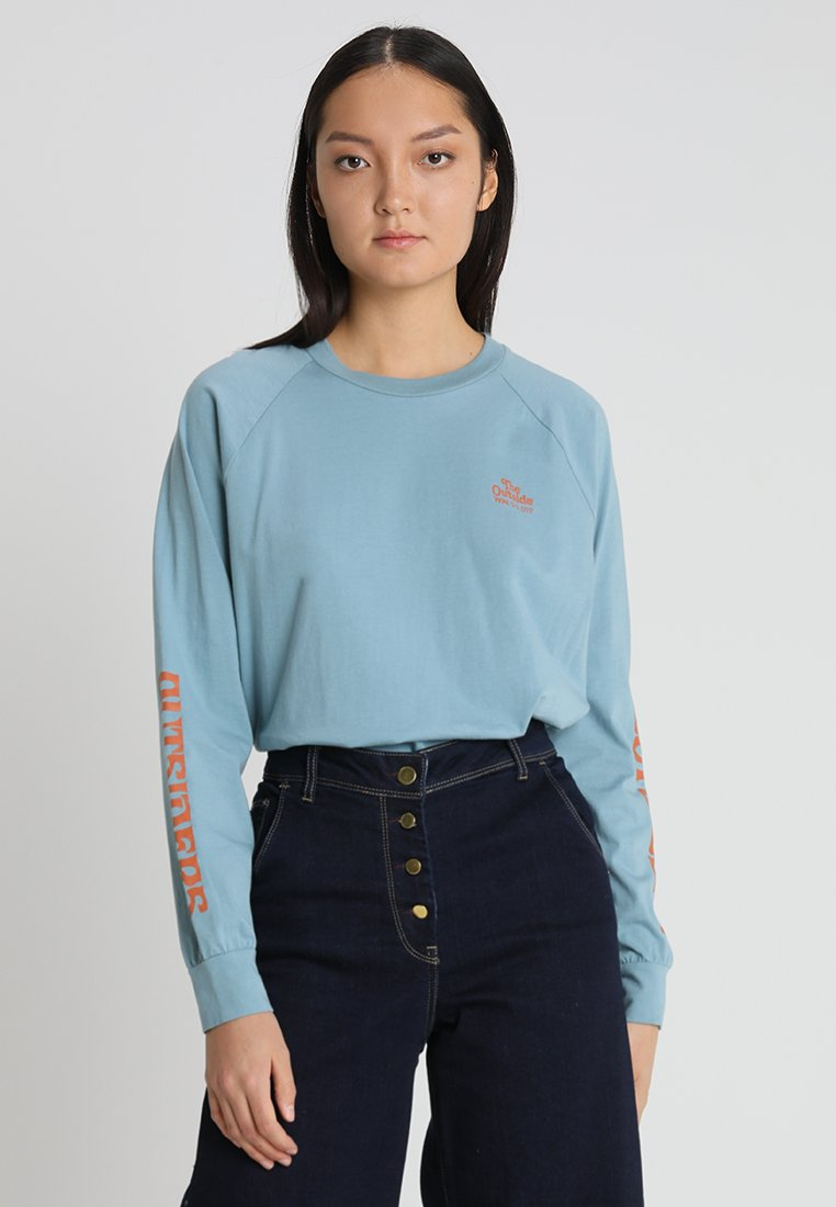 Wood Wood - HALLI LONG SLEEVE - Long sleeved top - dusty blue