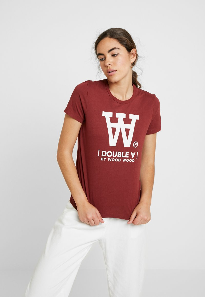 Wood Wood - UMA - Print T-shirt - dark red