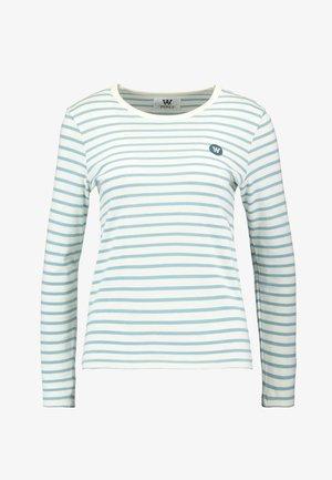 MOA LONG SLEEVE - Langarmshirt - off-white/blue