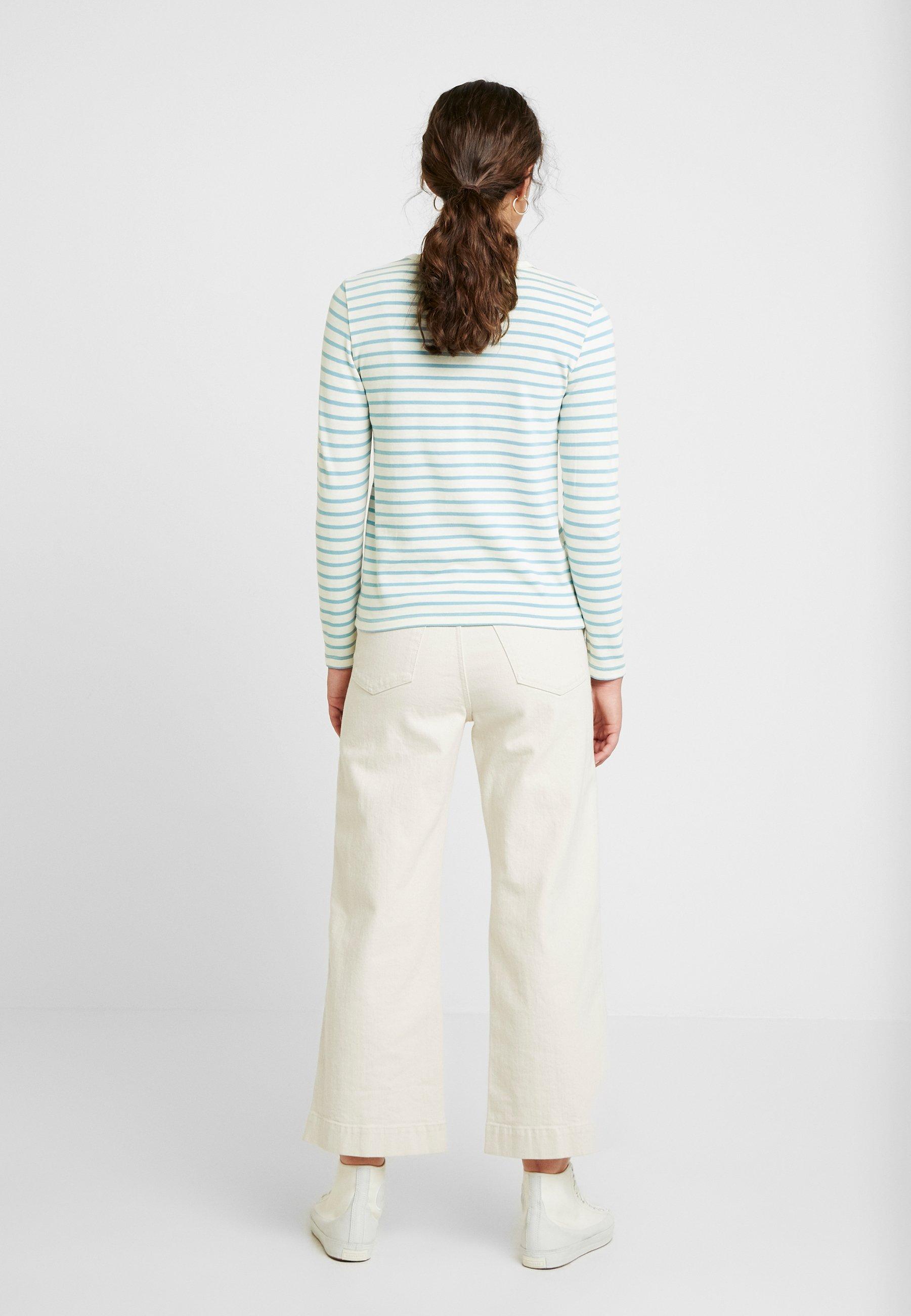 Wood Long SleeveT shirt À Longues Manches Off white blue Moa 8OPn0kw