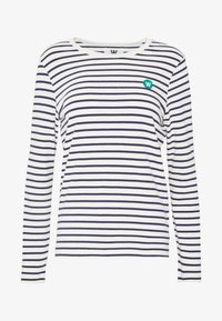 off-white/navy stripes