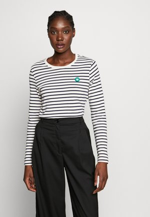 MOA LONG SLEEVE  - T-shirt à manches longues - off-white/navy stripes