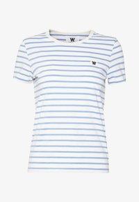 Wood Wood - UMA  - T-shirt z nadrukiem - off-white/blue stripes - 4