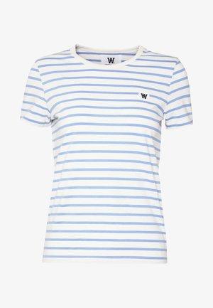 UMA  - T-shirt print - off-white/blue stripes