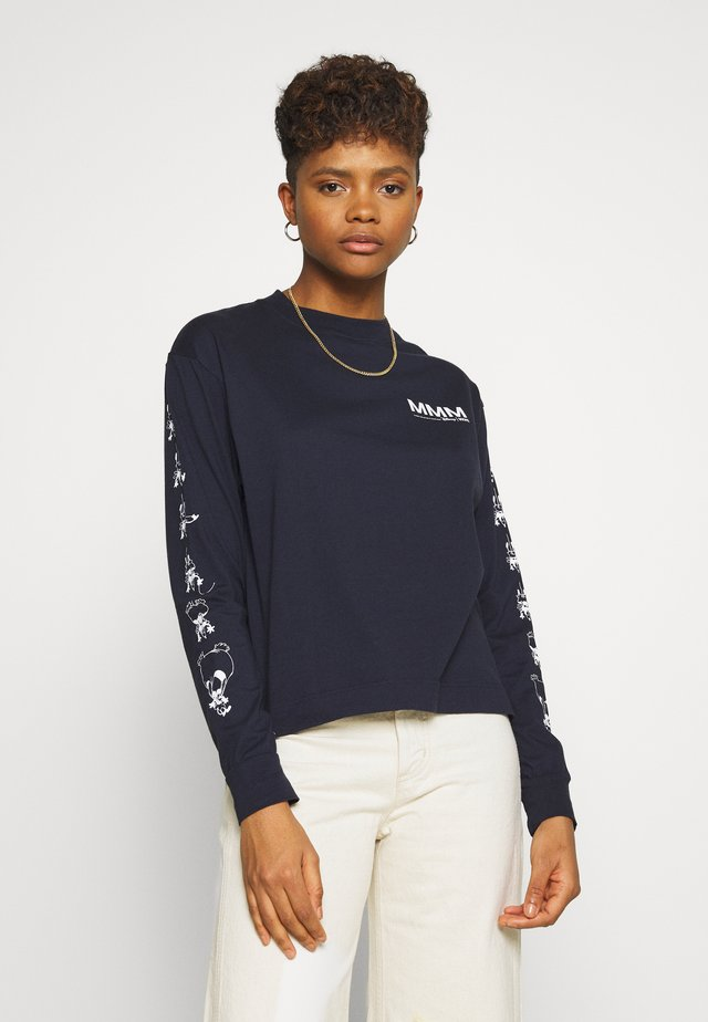 ASTRID LONG SLEEVE - Long sleeved top - navy