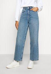 Wood Wood - ILO - Straight leg jeans - blue denim - 0