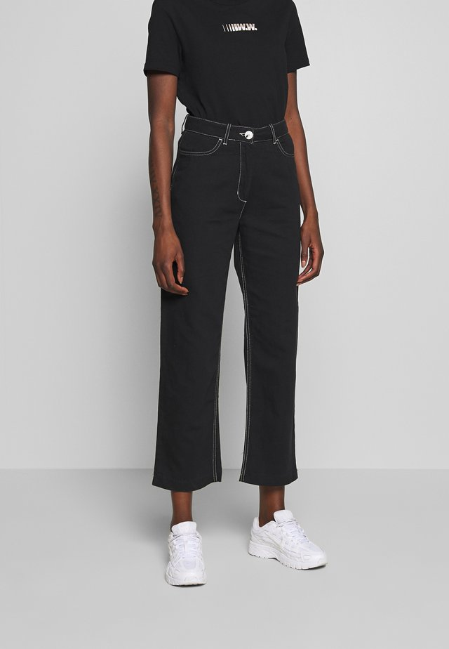 ALTHEA TROUSERS - Trousers - black