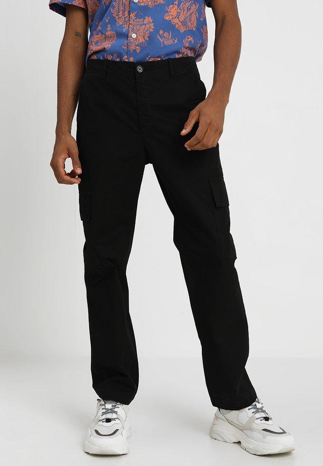 JULIAN TROUSERS - Cargo trousers - black