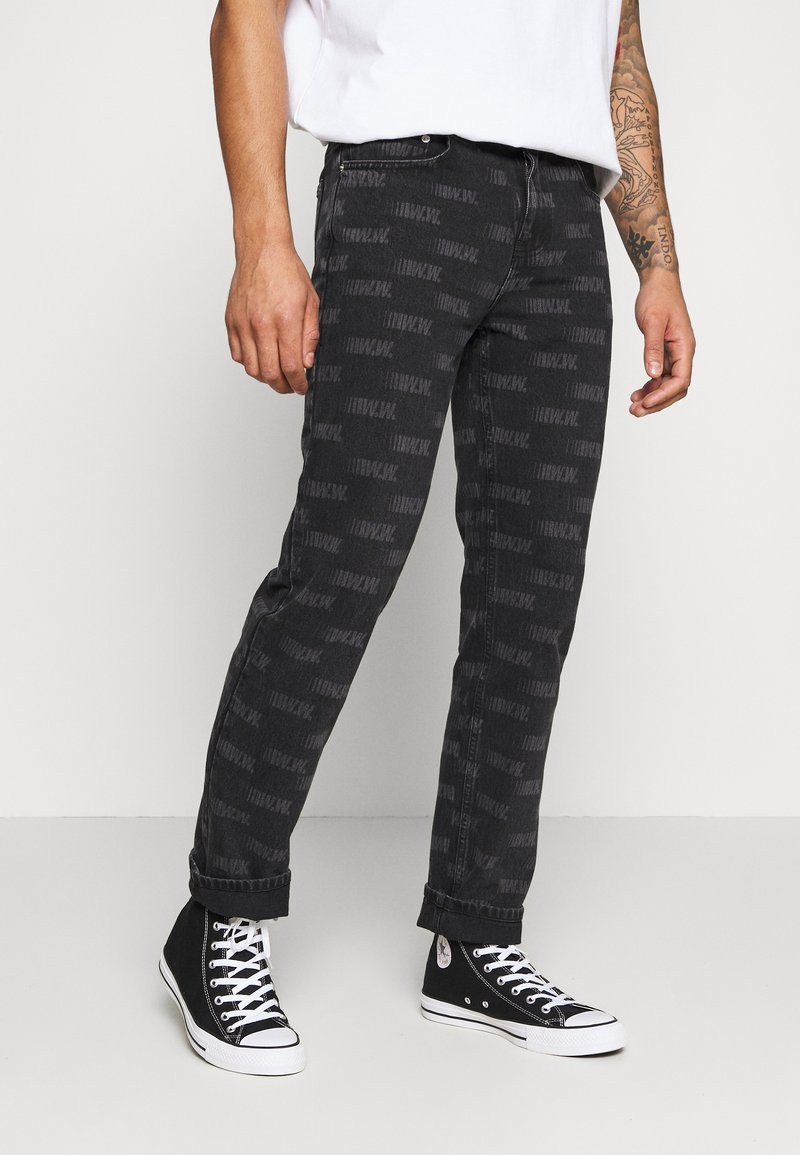 Wood Wood - GIL - Straight leg jeans - black