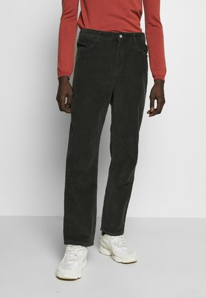 HAROLD CORD TROUSERS - Tygbyxor - dark green