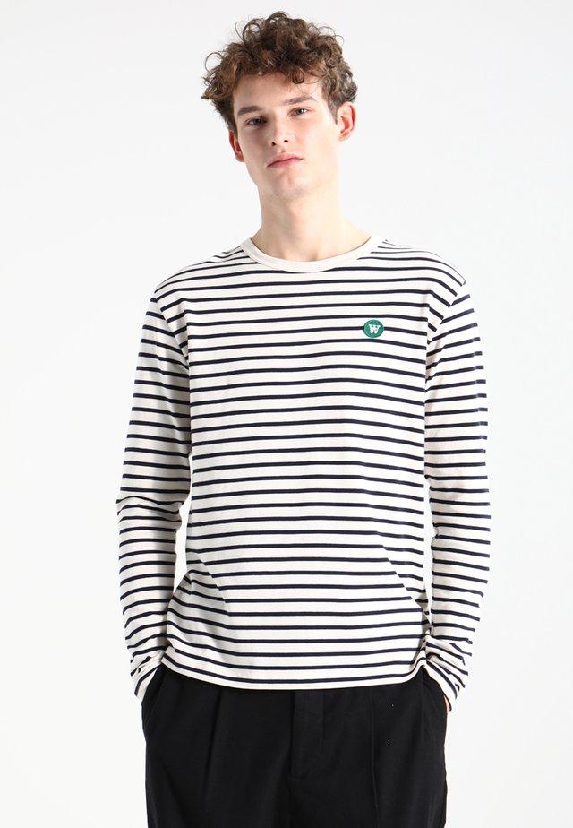 MEL - T-shirt à manches longues - off-white/navy stripes