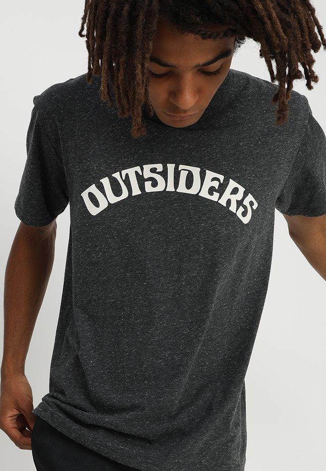 HUMPHREY  - Print T-shirt - dark grey melange