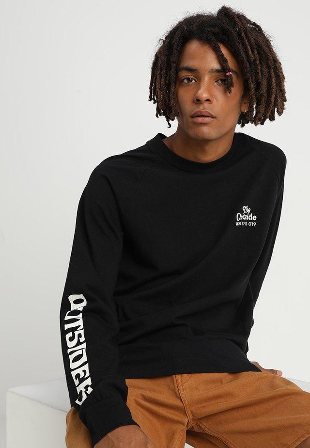 HAN LONG SLEEVE - Long sleeved top - black