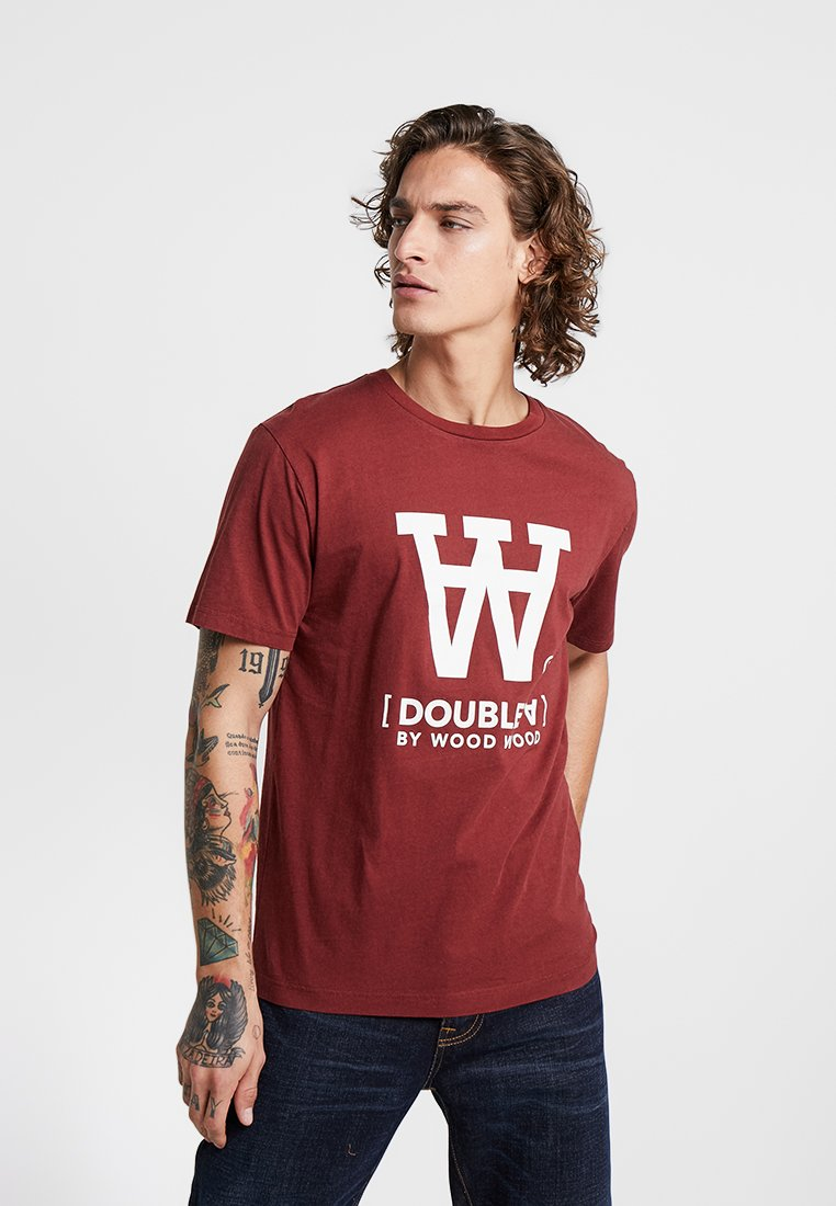 Wood Wood - ACE - T-Shirt print - dark red