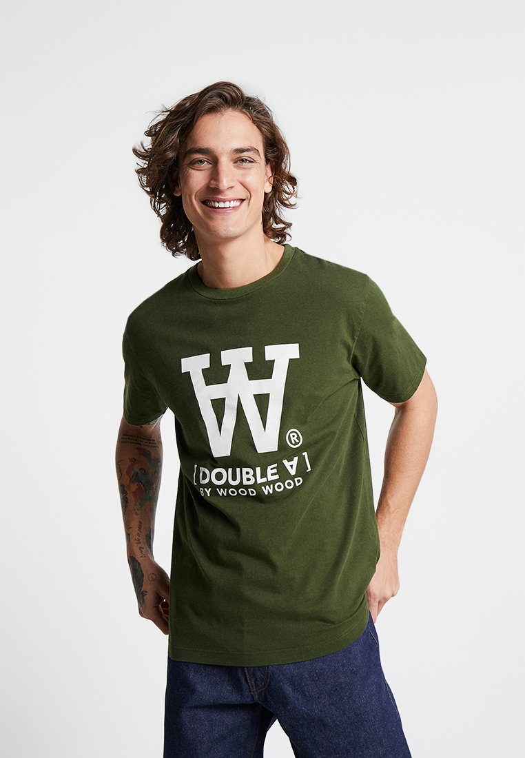 Wood Wood - ACE - T-Shirt print - army green