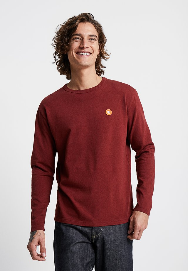 MEL LONG SLEEVE - Long sleeved top - dark red