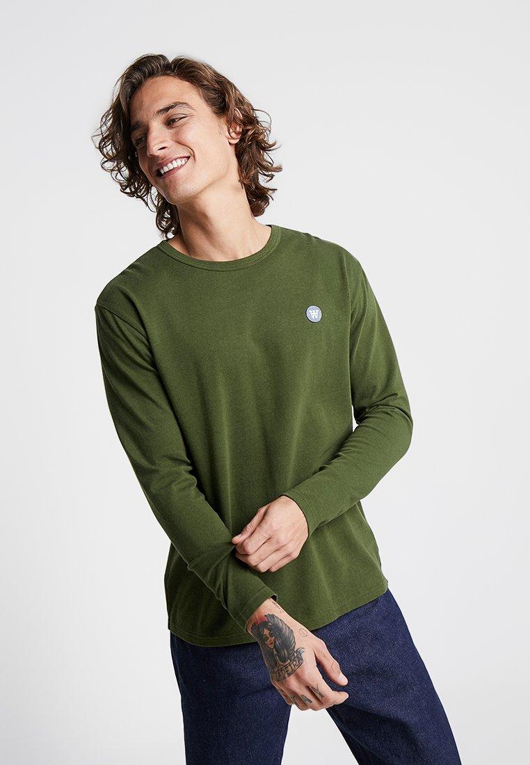 Wood Wood - MEL LONG SLEEVE - Long sleeved top - army green