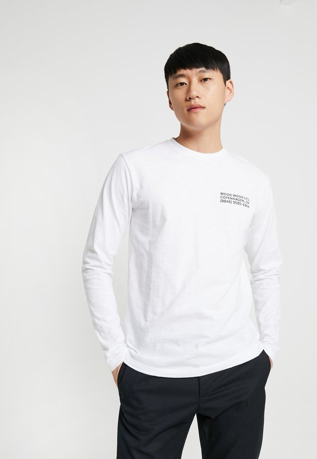 PETER LONG SLEEVE - Long sleeved top - bright white