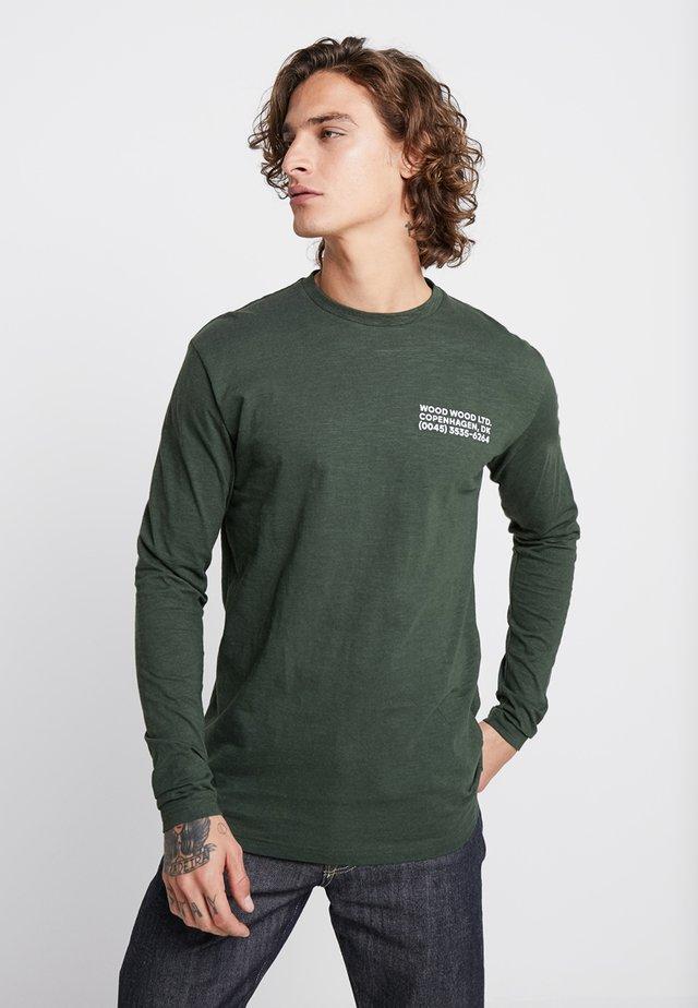 PETER LONG SLEEVE - Langarmshirt - dark green