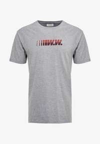Wood Wood - SPLIT - Print T-shirt - grey melange - 4