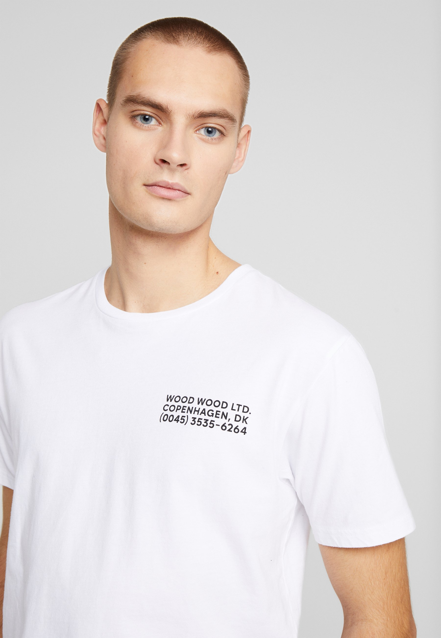 Wood T-shirt Med Print - Bright White