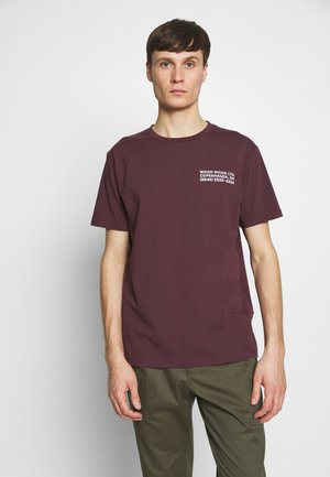 T-shirts print - burgundy