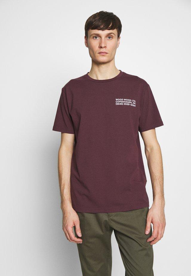 T-Shirt print - burgundy