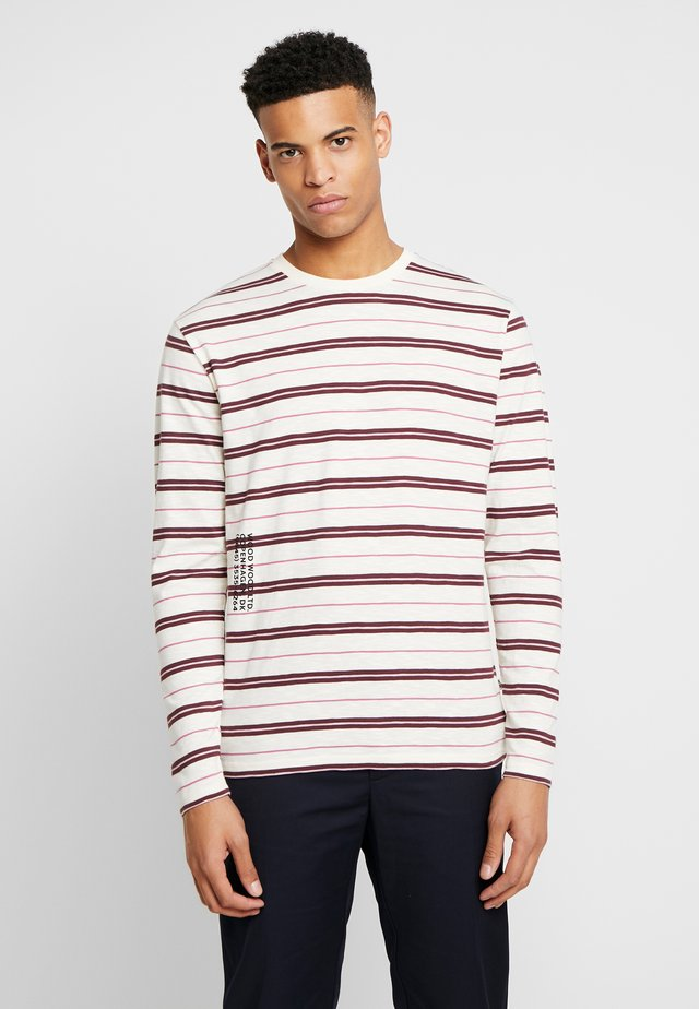 PETER LONG SLEEVE - T-shirt à manches longues - off-white