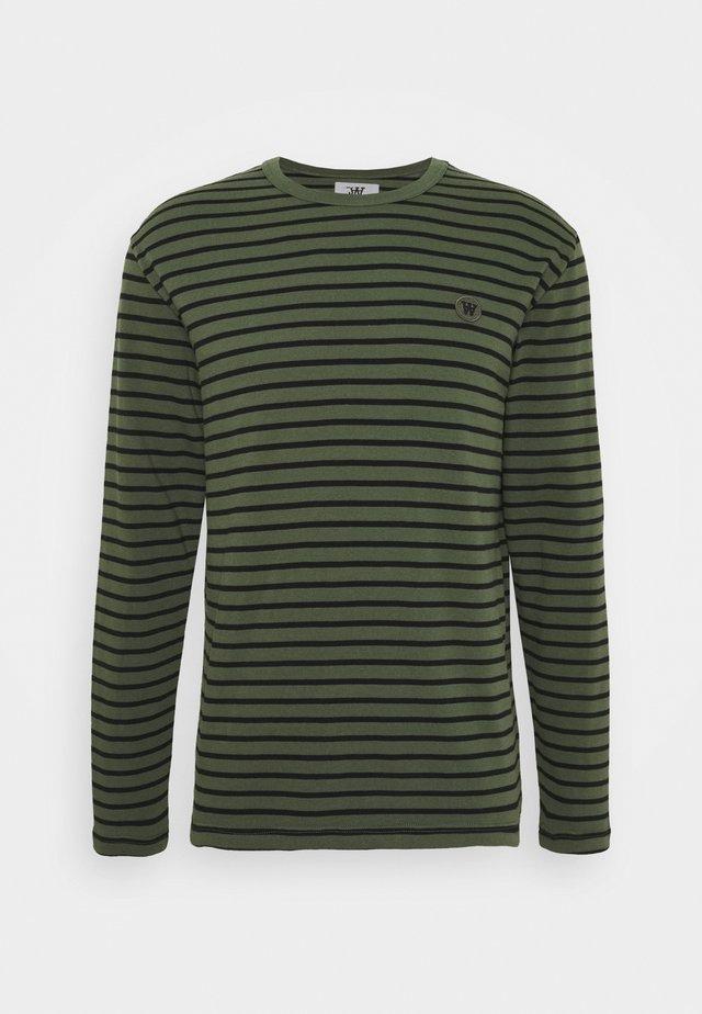 LONG SLEEVE - Long sleeved top - army/black