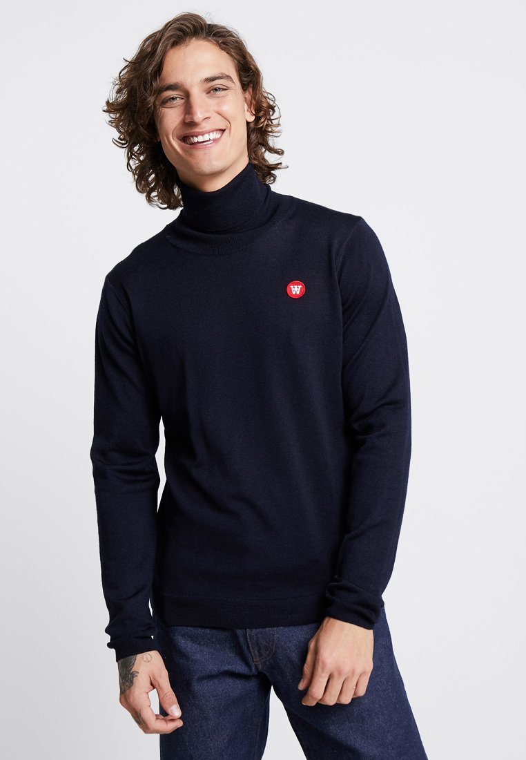 Wood Wood - LUC TURTLENECK - Sweter - navy