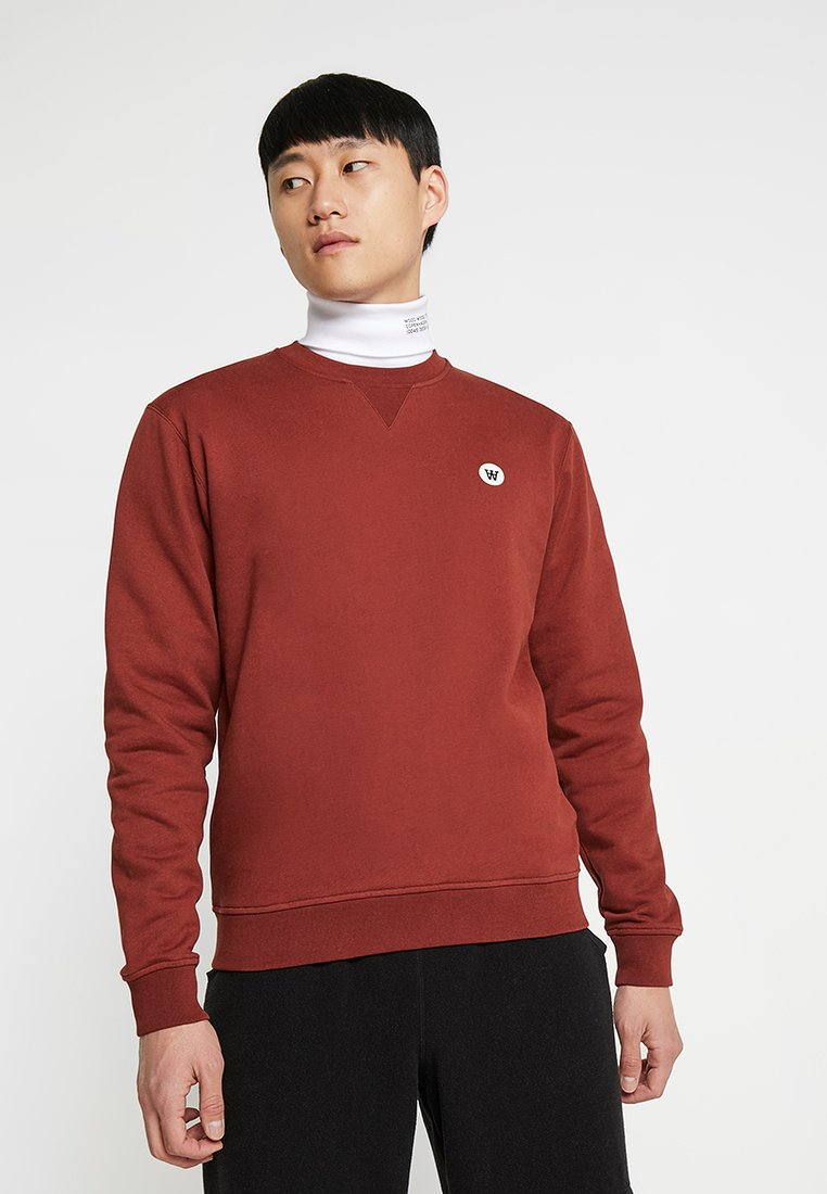 Wood Wood - TYE - Sweatshirt - dark red