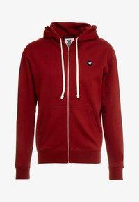 Wood Wood - DAN ZIP HOODIE - veste en sweat zippée - dark red - 3