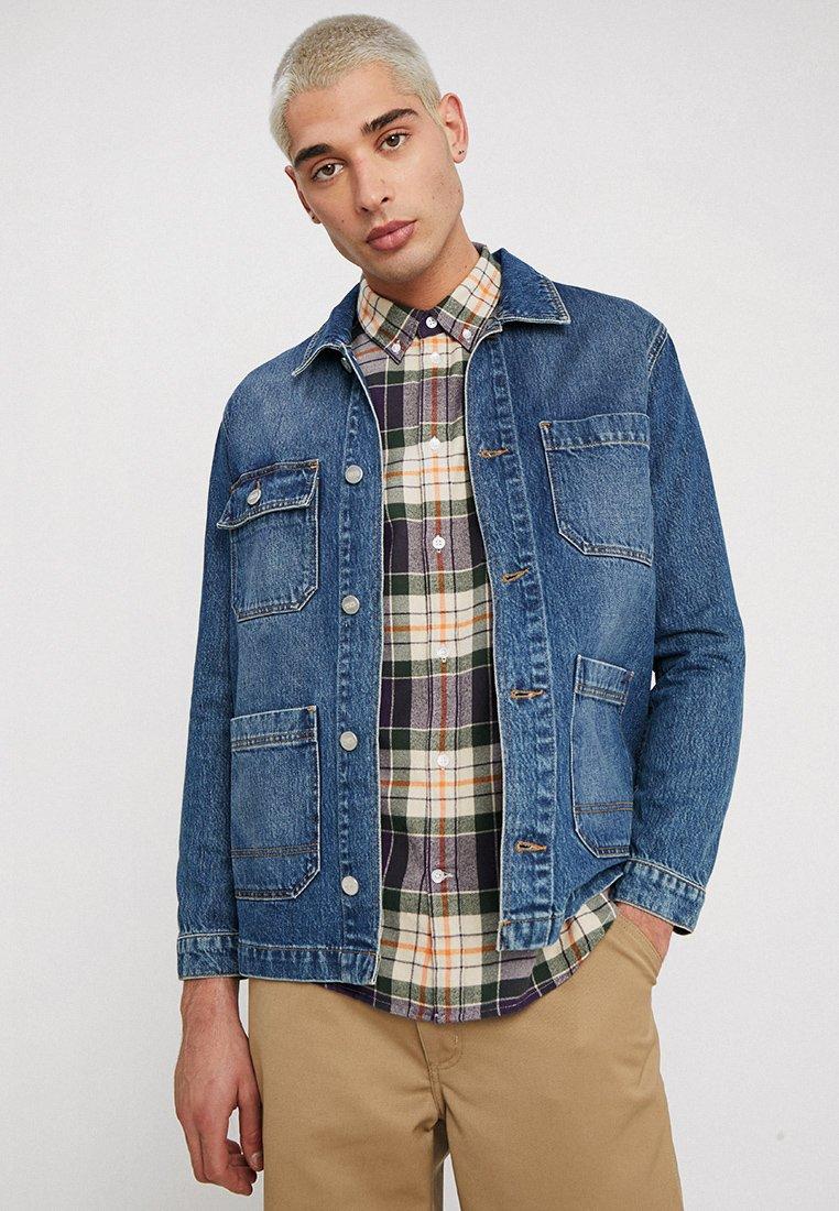 Wood Wood - GAVIN JACKET - Jeansjacke - worn blue
