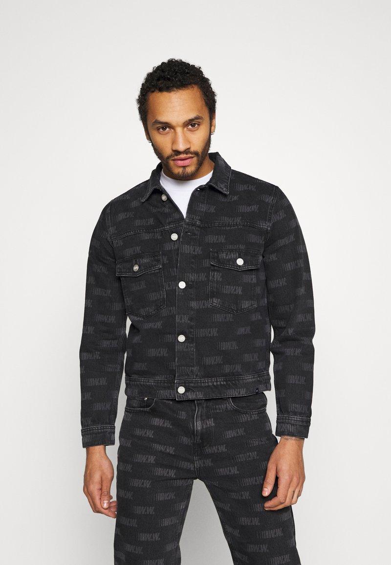 Wood Wood - CAM JACKET - Denim jacket - black