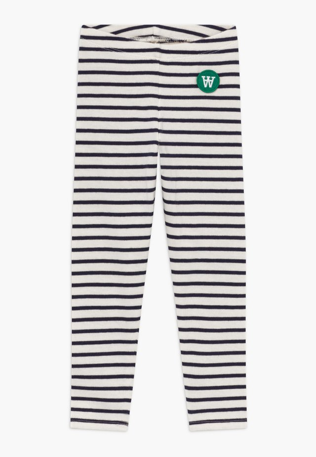 IRA - Leggings - Trousers - off-white/navy