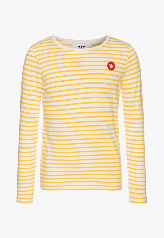 KIM KIDS LONG SLEEVE - Long sleeved top - offwhite/yellow