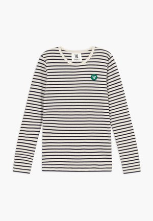 KIM KIDS LONG SLEEVE - Camiseta de manga larga - off-white/navy stripes