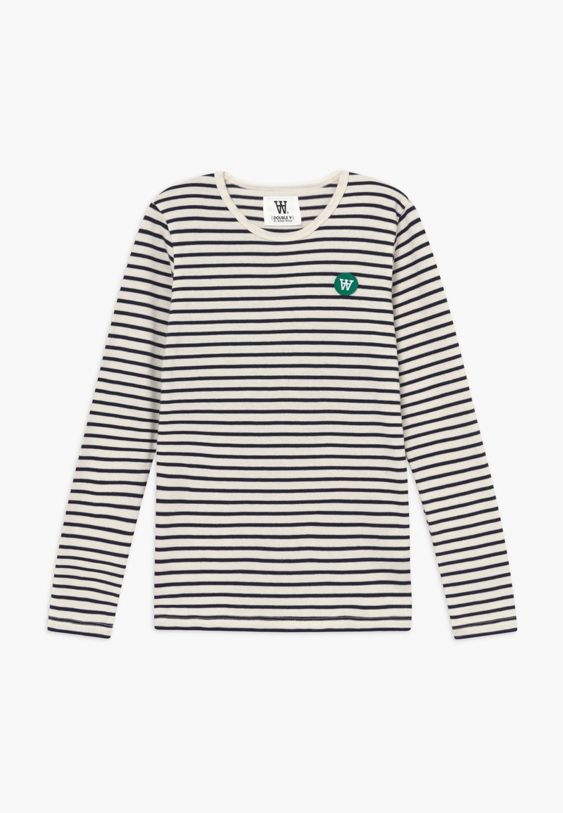 Wood Wood - KIM KIDS LONG SLEEVE - Long sleeved top - off-white/navy stripes