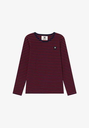 KIM KIDS - Pitkähihainen paita - navy/red stripes