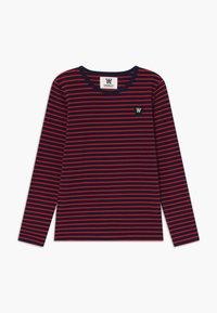 Wood Wood - KIM KIDS - Top sdlouhým rukávem - navy/red stripes - 0