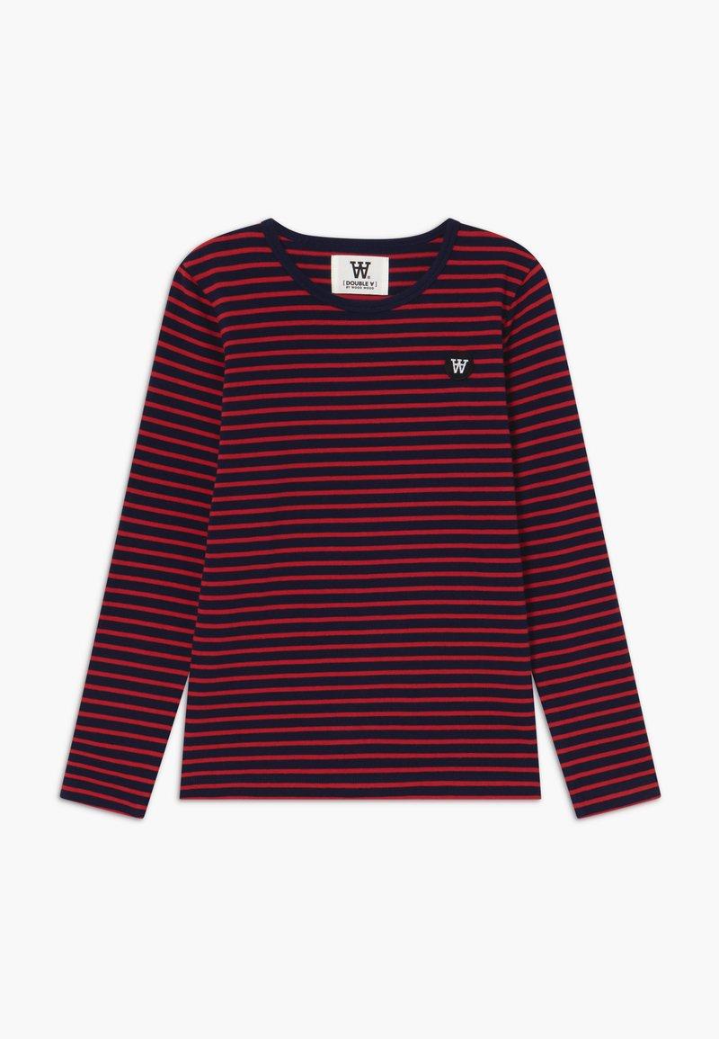 Wood Wood - KIM KIDS - Top sdlouhým rukávem - navy/red stripes