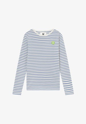 KIM KIDS - Maglietta a manica lunga - off-white/blue stripes