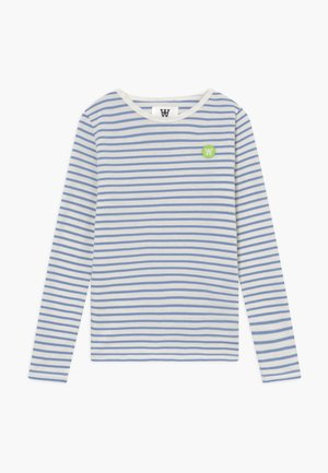 KIM KIDS - Top s dlouhým rukávem - off-white/blue stripes