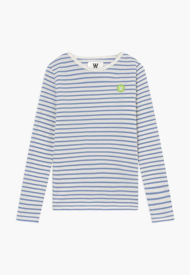 KIM KIDS - Long sleeved top - off-white/blue stripes